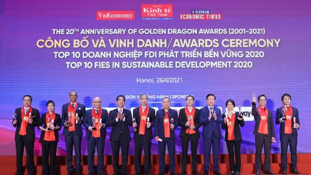 Vinh danh Top 10 doanh nghiệp FDI
