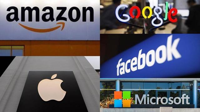 7 hãng công nghệ lớn nhất của Mỹ có tổng vốn hoá gần 10 tỷ USD