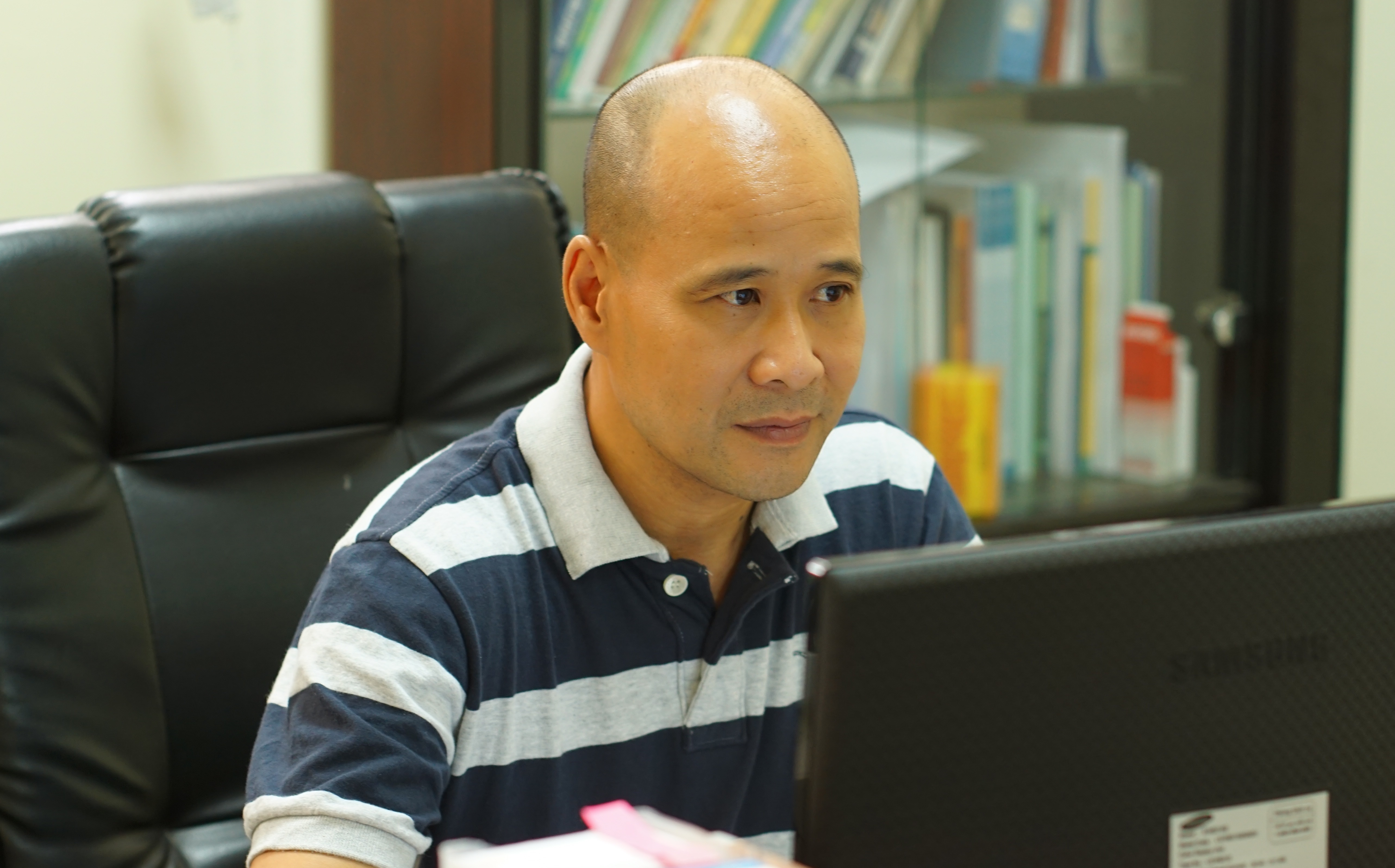 TS Ngô Tự Lập, Viện trưởng Viện Quốc tế Pháp ngữ, Đại học Quốc gia Hà Nội. Ảnh - Huỳnh Như.