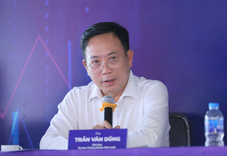 Ông Trần Văn Dũng cho rằng giao dịch trong ngày phải chờ hệ thống KRX. Ảnh: Quang Phúc.