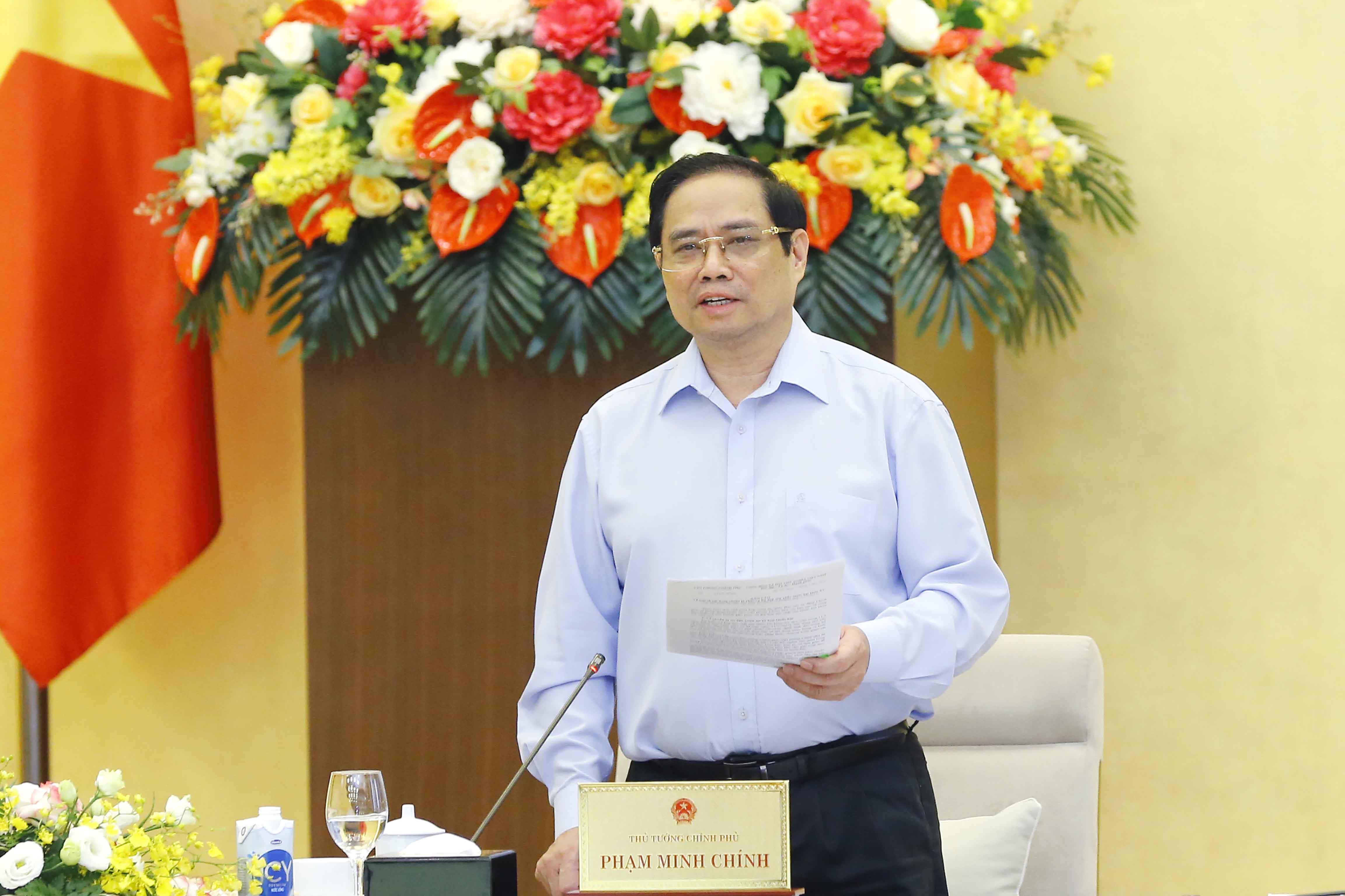 Thủ tướng Phạm Minh Chính phát biểu tại cuộc họp - Ảnh: VGP