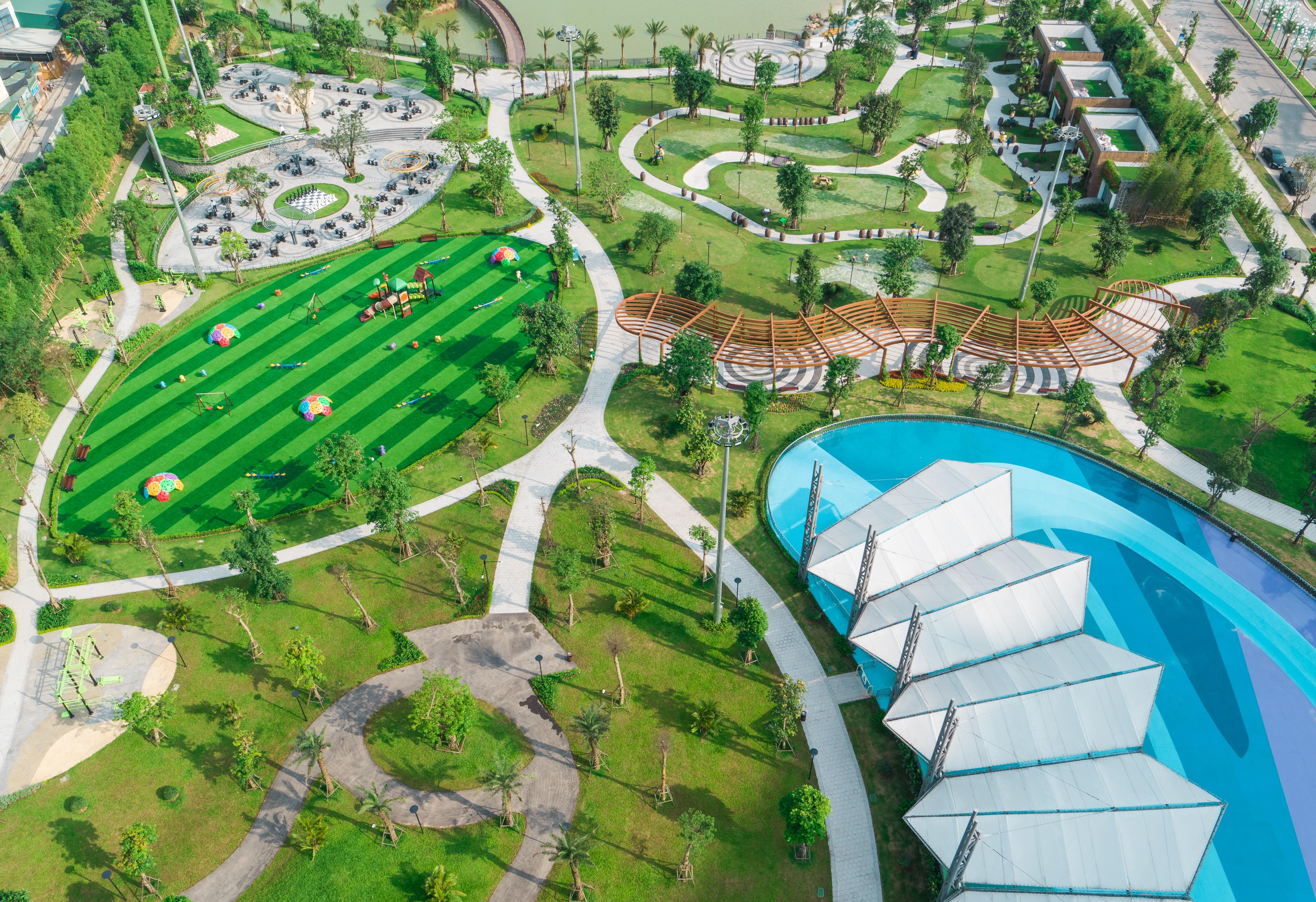 Công viên thể thao đã đi vào hoạt động.