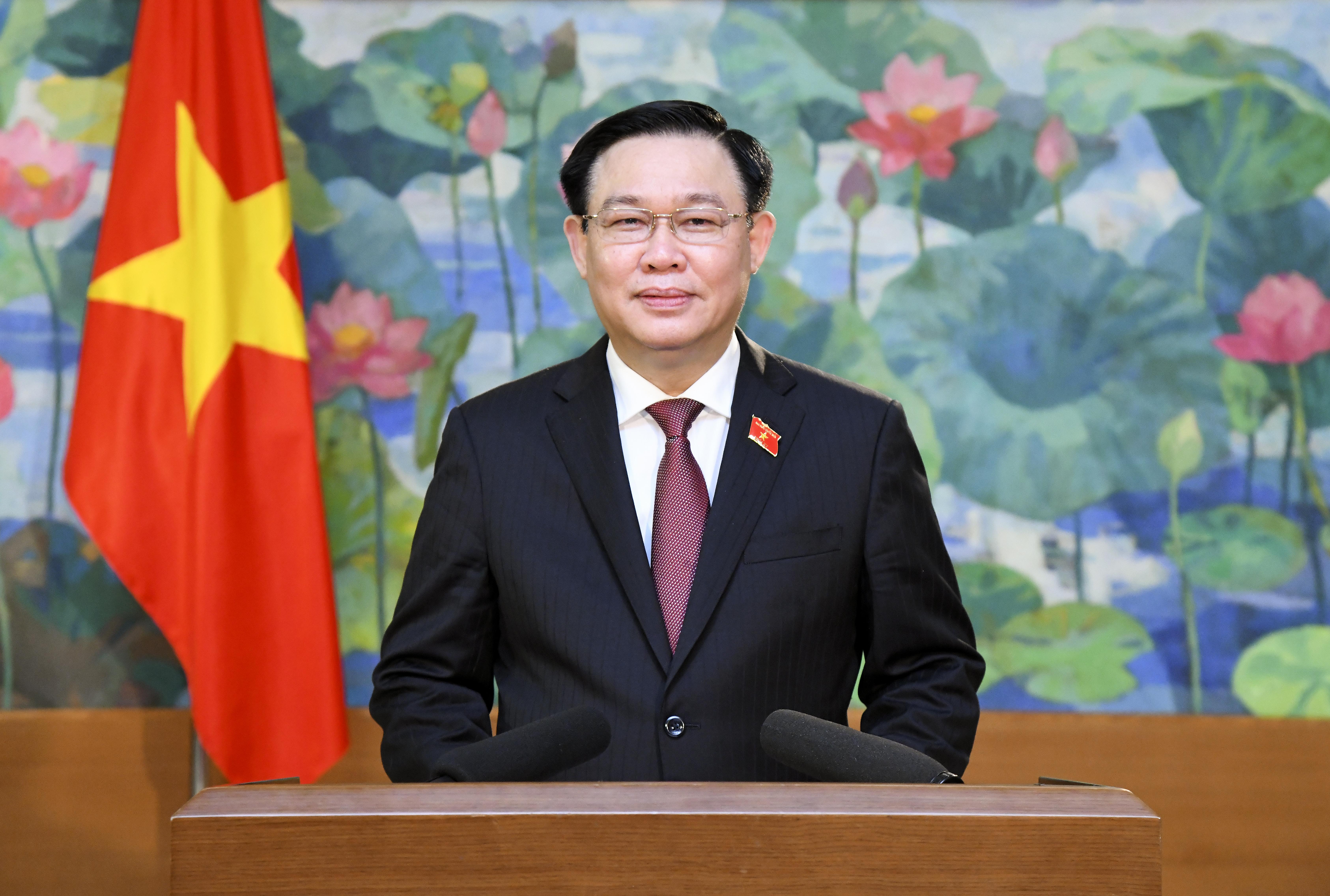 Chủ tịch Quốc hội gửi thông điệp gửi tới hội nghị. Ảnh: Quochoi.vn.