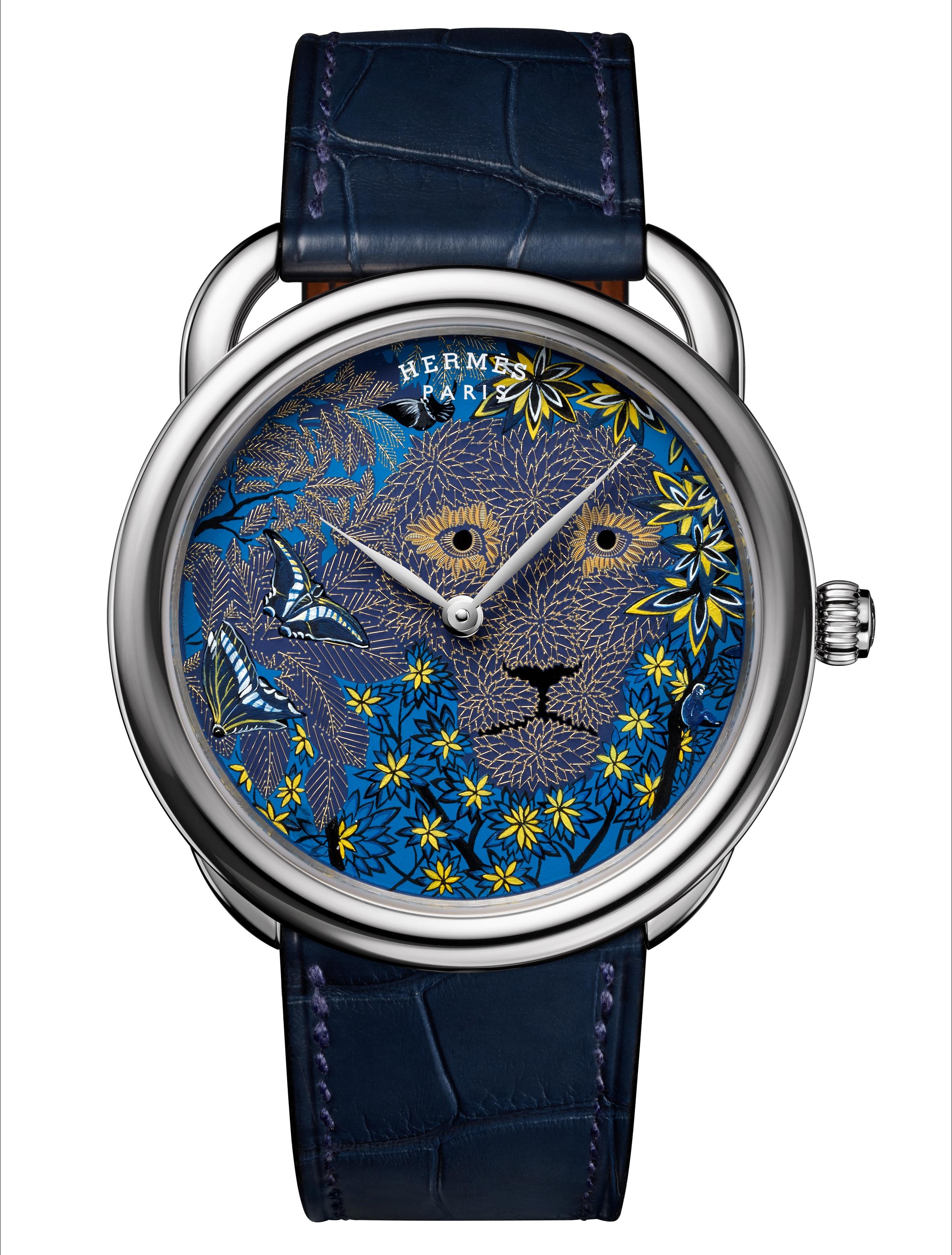 Hermès Arceau Wild Singapore: thêm một mẫu đồng hồ thêu sợi vàng - Ảnh 1