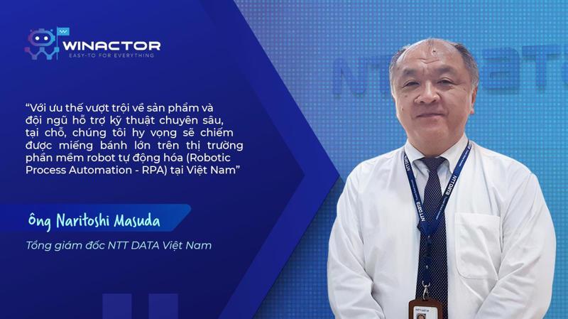 Ông Naritoshi Masuda, Tổng giám đốc NTT DATA Việt Nam thuộc tập đoàn NTT DATA .