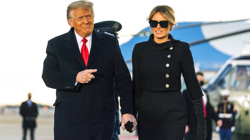 Vợ chồng cựu Tổng thống Mỹ Donald Trump.