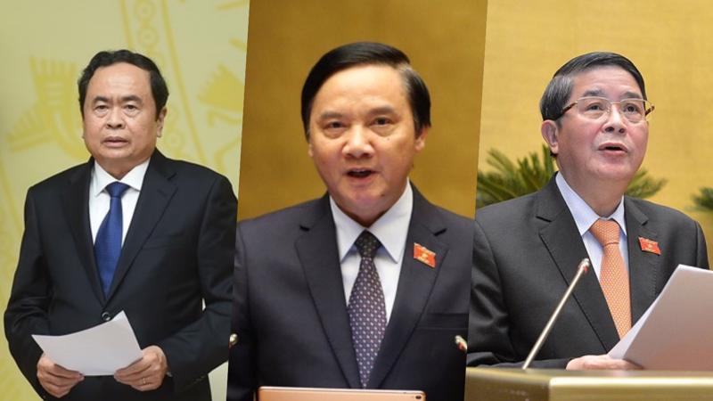 Từ trái sang phải: Ông Trần Thanh Mẫn, ông Nguyễn Khắc Định và ông Nguyễn Đức Hải - Ảnh: Quochoi.vn