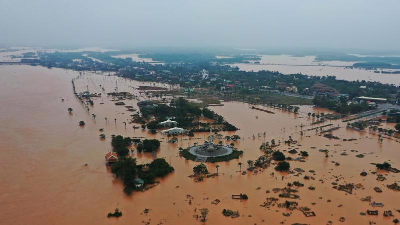 Lũ lụt tại tỉnh Quảng Trị tháng 10/2020 - Ảnh: Reuters