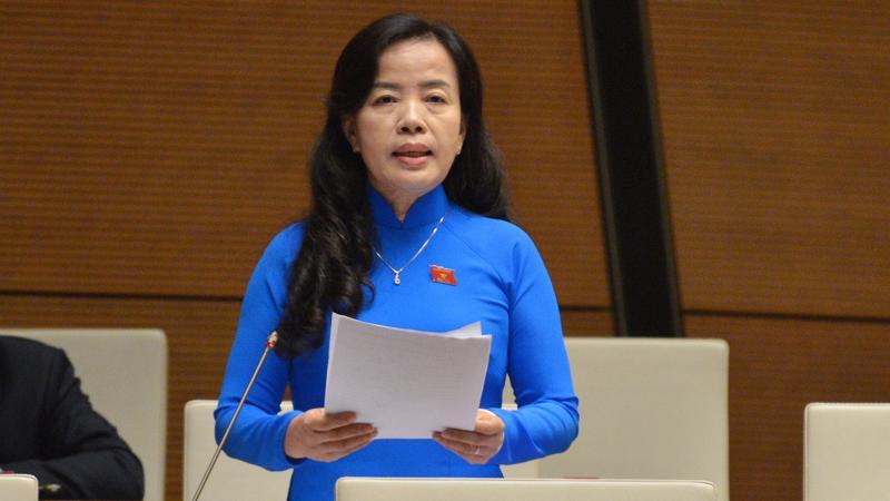 Đại biểu Nguyễn Thị Kim Thúy - Đoàn đại biểu Quốc hội thành phố Đà Nẵng, phát biểu tại phiên thảo luận - Ảnh: Quochoi.vn