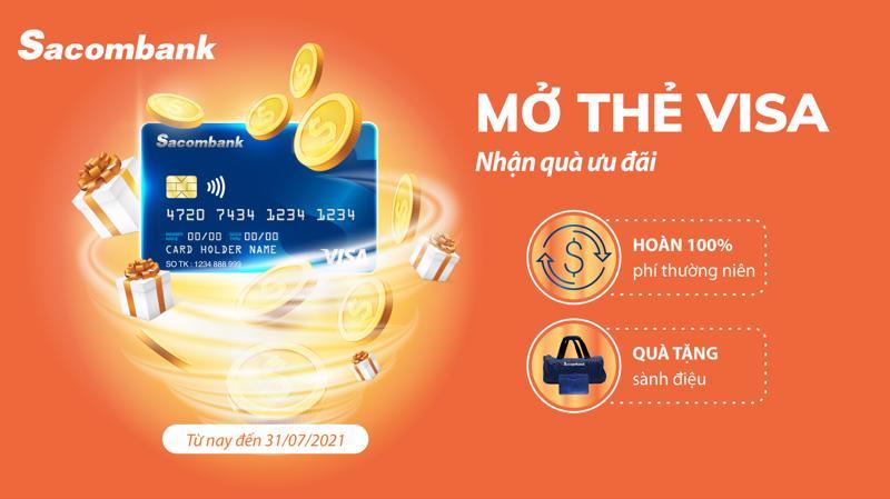 Với thẻ tín dụng Sacombank Visa, khách hàng còn được chi tiêu trước, trả tiền sau với thời gian miễn lãi lên đến 55 ngày mà không cần tài sản đảm bảo.