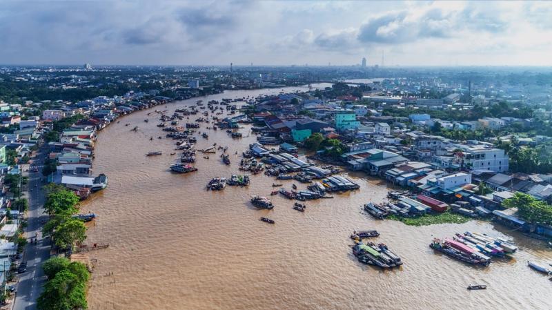 Đồng bằng sông Cửu Long - Ảnh: MONRE