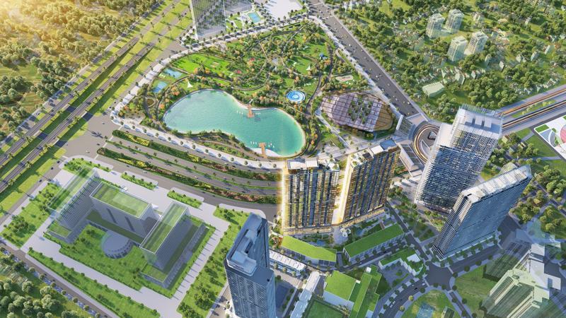 Dự án The Matrix One nằm trong quần thể tổ hợp tiện ích đa tầng hạng A phía Tây Hà Nội.