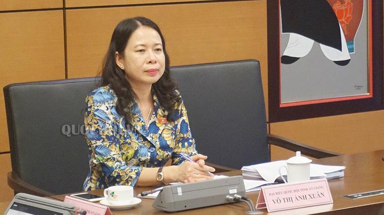 Bà Võ Thị Ánh Xuân - Ảnh: Quochoi.vn