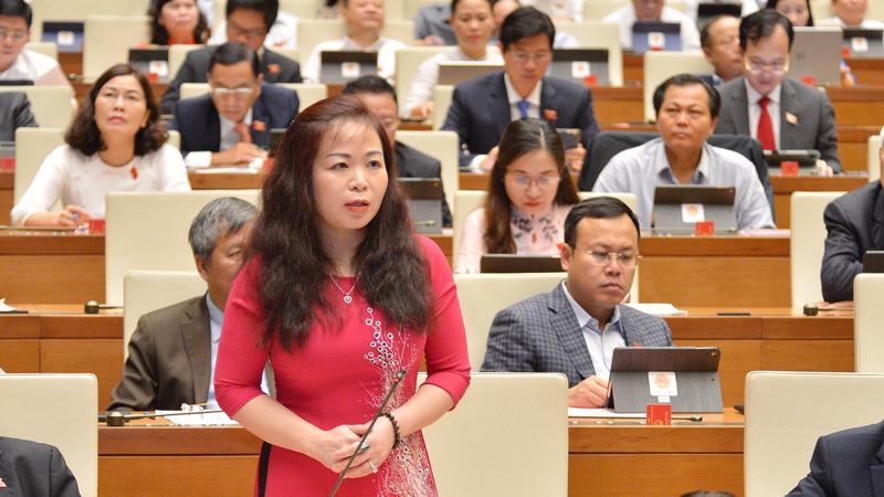 Đại biểu Vũ Thị Lưu Mai (Hà Nội) phát biểu tại phiên thảo luận ngày 29/3 - Ảnh: Quochoi.v