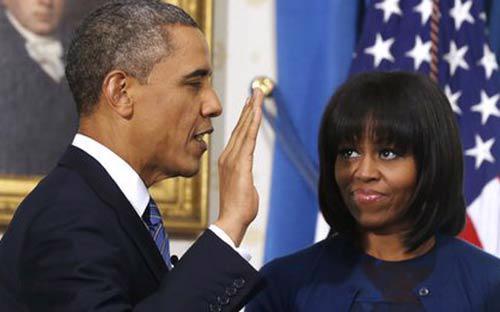 Ông Obama tuyên thệ nhậm chức nhiệm kỳ hai <i>-  Ảnh: AFP.</i>