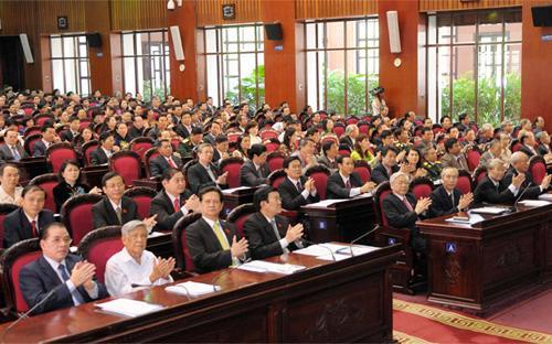 Toàn cảnh hội trường phiên khai mạc kỳ họp thứ 5 Quốc hội khóa 13 - Ảnh: Tuổi Trẻ.<br>