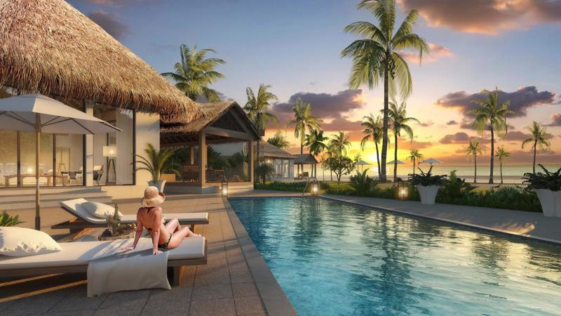 Sử dụng tối đa các vật liệu truyền thống của địa phương, các biệt thự được thiết kế một hoặc hai tầng với mái vòm, sân, hồ bơi riêng phù hợp với không gian nghỉ dưỡng sang trọng. <br>