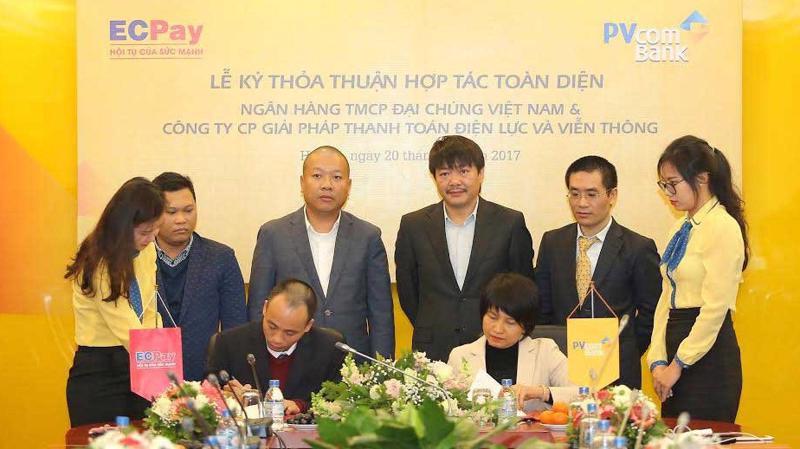 Lễ ký thỏa thuận hợp tác toàn diện giữa PVcomBank với ECPay.