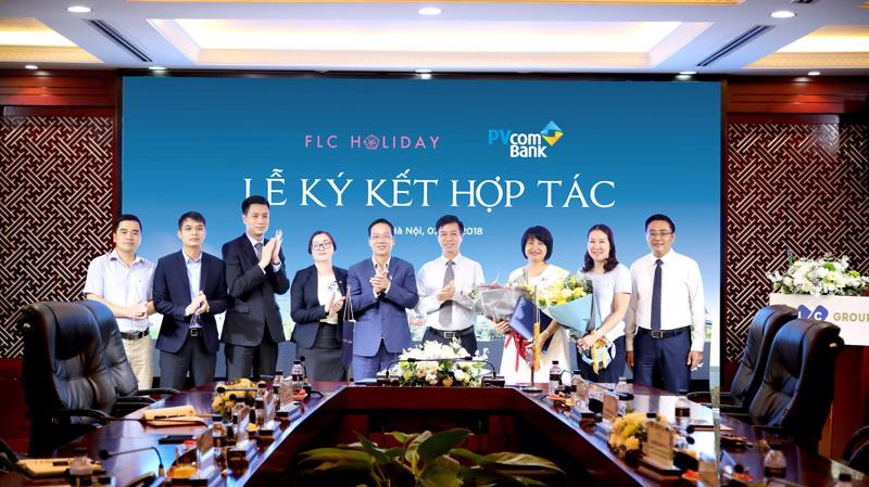 Lễ ký hợp tác giữa PVcomBank với FLC Holiday.