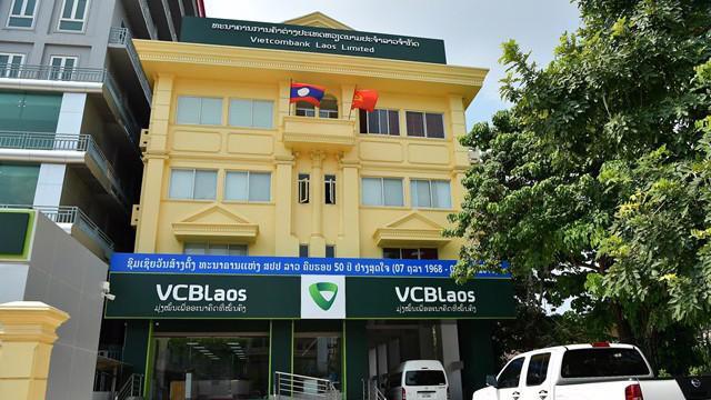Trụ sở Vietcombank Lào tại Thủ đô Viêng Chăn.