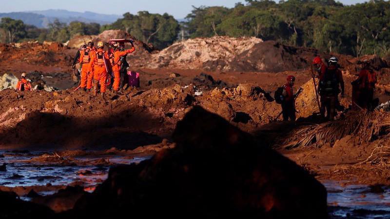 Hiện trường vụ vỡ đập mỏ quặng Vale ở Brazil, ngày 28/1 - Ảnh: Reuters.