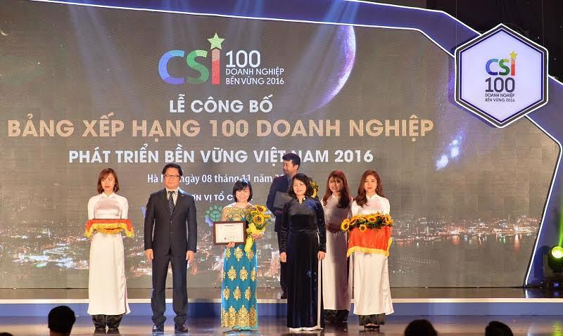 Bảng xếp hạng được công bố hôm 8/11 tại Hà Nội, do Hội dồng  Doanh nghiệp vì sự Phát triển Bền vững (VBCSD) phối hợp với Bộ Lao động -  Thương binh và Xã hội (MOLISA), Bộ Công thương (MOIT), Bộ Tài nguyên và  Môi trường (MONRE), Tổng liên đoàn Lao động Việt Nam (VGCL) và Ủy ban  Chứng khoán Nhà nước (SSC) thực hiện.