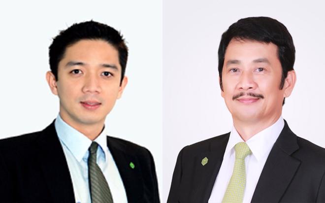 Ông Bùi Cao Nhật Quân (ảnh trái) là con trai Chủ tịch Hội đồng Quản trị Novaland, ông Bùi Thành Nhơn (ảnh phải).