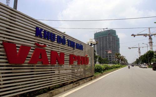 """Khu đô thị mới Văn Phú là một trong 10 khu đô thị thiếu hạ tầng xã hội bị Hà Nội """"điểm danh"""".<br>"""