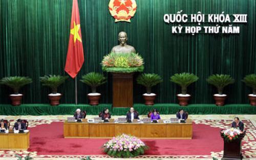 Dù chưa thông qua ngay tại kỳ họp thứ 5 khai mạc vào 9 giờ sáng nay (20/5), dự thảo sửa đổi Hiến pháp năm 1992 vẫn được dành tới hai ngày để thảo luận ở hội trường, sau khi đã thảo luận ở tổ nửa ngày.