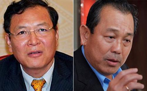 Bộ trưởng Phạm Vũ Luận (bên trái) và Chánh án Trương Hòa Bình.<br>