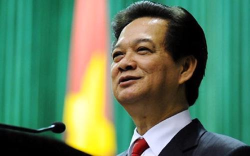 Thủ tướng Chính phủ Nguyễn Tấn Dũng trong một lần phát biểu trước Quốc hội.<br>
