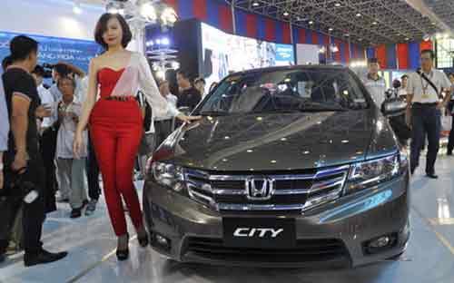 Honda City đã từng xuất hiện tại 2 kỳ triển lãm Vietnam Motor Show gần đây nhất.<br>