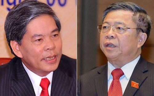 Từ trái sang: ông Nguyễn Minh Quang và ông Võ Kim Cự.<br>