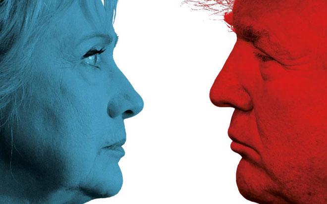 Theo kết quả các cuộc thăm dò dư luận, khoảng cách dẫn trước của bà  Clinton so với ông Trump đã rút ngắn trong khoảng một tuần trở lại đây.  Điều này khiến những nhà đầu tư không muốn Trump trở thành Tổng thống Mỹ  hốt hoảng - Ảnh: Economist.<br>