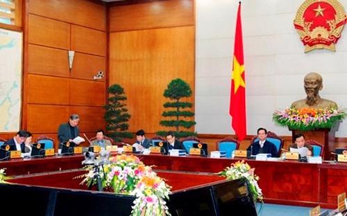 Quang cảnh phiên họp chuyên đề của Chính phủ ngày 25/12 - Ảnh VGP.<br>
