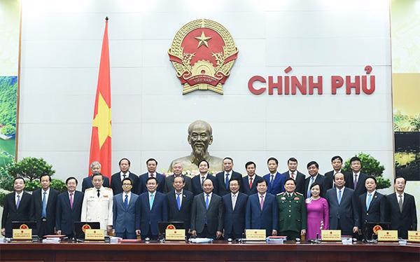 Bộ máy Chính phủ thời Thủ tướng Nguyễn Xuân Phúc.