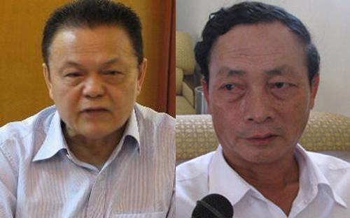 Ông Phạm Lê Thanh (bên trái) và ông Đào Văn Hưng.<br>