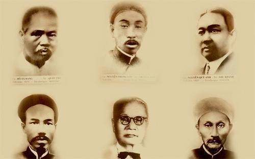 Sáu sáng lập viên của Liên Thành: Hồ Tá Bang, Nguyễn Trọng Lợi, Nguyễn Quý Anh (hàng trên), Nguyễn Hiệt Chi, Trần Lệ Chất, Ngô Văn Nhượng (hàng dưới).