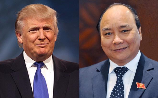 Ngày 14/12/2016, Thủ tướng Nguyễn Xuân Phúc đã có cuộc điện đàm với Tổng thống Mỹ Donald Trump ngay sau khi ông vừa đắc cử.<!--[if gte mso 9]><xml>  <w:WordDocument>  <w:View>Normal</w:View>  <w:Zoom>0</w:Zoom>  <w:TrackMoves></w:TrackMoves>  <w:TrackFormatting></w:TrackFormatting>  <w:PunctuationKerning></w:PunctuationKerning>  <w:ValidateAgainstSchemas></w:ValidateAgainstSchemas>  <w:SaveIfXMLInvalid>false</w:SaveIfXMLInvalid>  <w:IgnoreMixedContent>false</w:IgnoreMixedConten