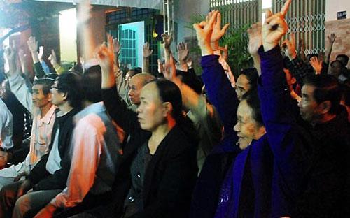 Một buổi lấy ý kiến cử tri tại thành phố Đà Nẵng - Ảnh: VTV.<br>