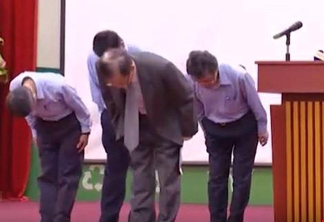 Lãnh đạo Formosa Hà Tĩnh cúi đầu xin lỗi Chính phủ và nhân dân Việt Nam, hôm 28/6 vừa qua.