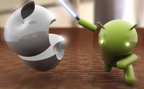 Android vẫn là hệ điều hành tăng trưởng khá khiêm tốn ở thị trường di động doanh nghiệp - <i>Ảnh minh họa cuộc chiến giữa Android và iOS: Inside</i>.