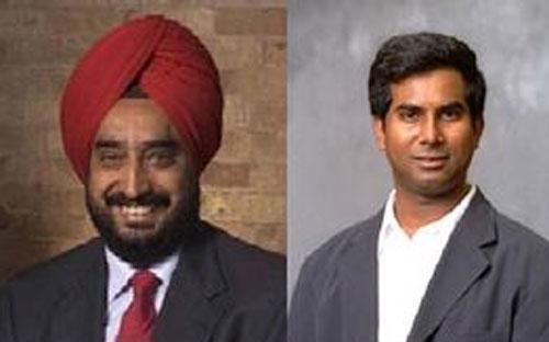 Hai kỹ sư gốc Ấn Gurindar Sohi (trái) và Terani Vijaykumar - Ảnh: WSJ.<br>