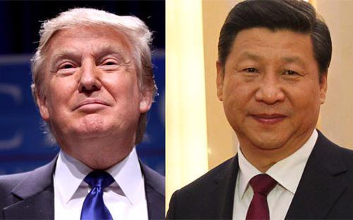 Tổng thống Mỹ Donald Trump (trái) và Chủ tịch Trung Quốc Tập Cận Bình.