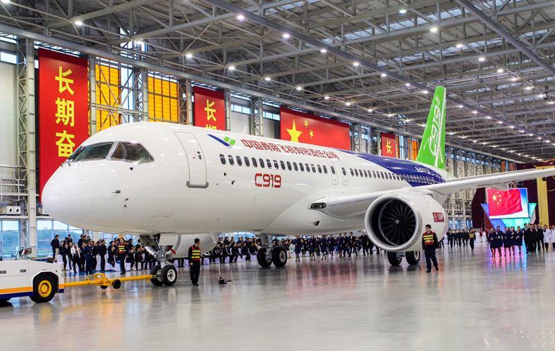 Máy bay chở khách C919 do Trung Quốc sản xuất.<br>