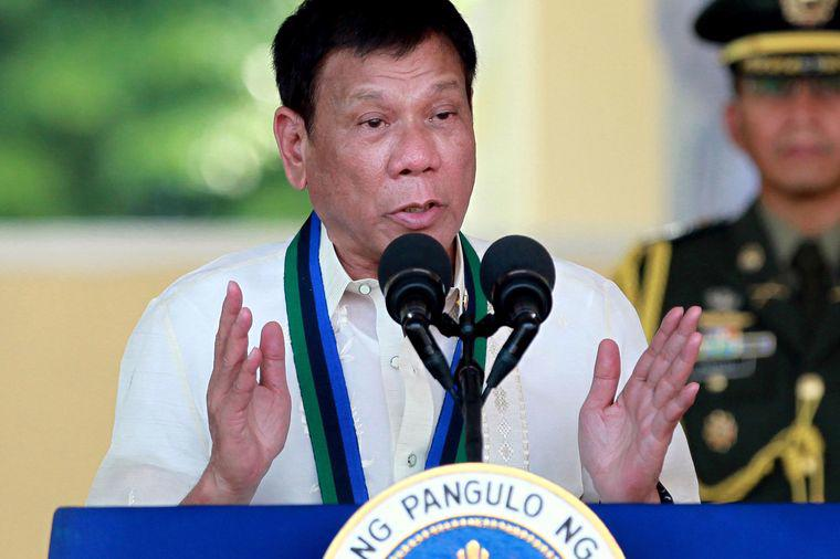 Tổng thống Philippines Rodrigo Duterte - Ảnh: AP/Bloomberg.<br>