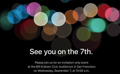 Giấy mời của Apple cho sự kiện ngày 7/9 - Ảnh: CNN Money.<br>