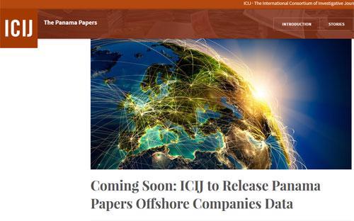 ICIJ tuyên bố chuẩn bị công bố cơ sở dữ liệu vụ Panama Papers - Ảnh chụp màn hình.<br>