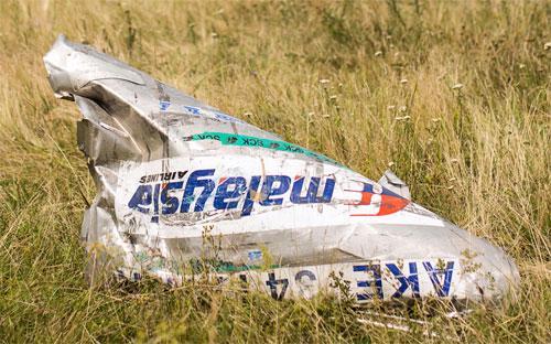 Một mảnh vỡ của chuyến bay MH17 ở miền Đông Ukraine ngày 22/7/2014 - Ảnh: Getty/Bloomberg.<br>