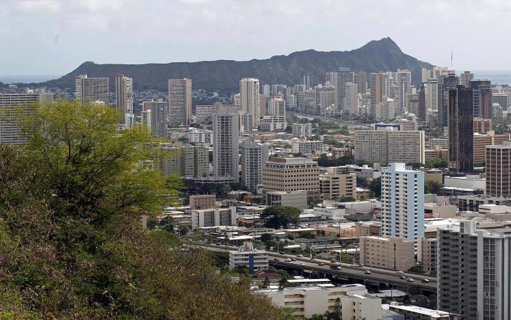 Thành phố Honolulu của Hawaii, tháng 11/2011 - Ảnh: Reuters.<br>